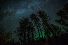 Milky Way and the Northern Lights - Lake Superior, Minnesota, US