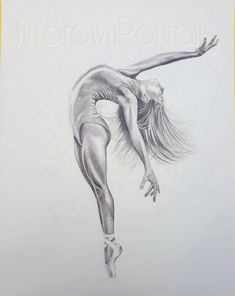 Graphite sketch on cartridge paper by Tim Brown Portraits. Monotone graphite pencil on paper, female ballet dancer Ballet Drawings, Dancing Drawings, Pencil Art Drawings, Cool Art Drawings, Art Drawings Sketches, Ballerina Sketch, Ballerina Art, Ballet Art, Ballet Painting