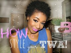 Nice article on how to care for short natural hair and three cute and simple hairstyles to try.