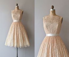 Classically Trained dress  vintage 1950s dress  lace by DearGolden, $248.00