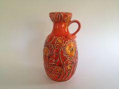 Bay Keramik 75  20 handled vase by Bodo by VintageCeramics4You