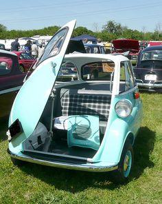 I love that the car door is the hood