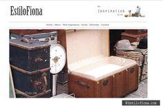 Infaltables en la decoración vintage   #decoración #decor #vintage #maletas #baúles