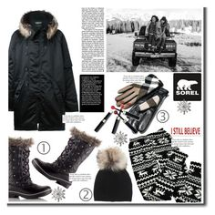 """""""Introducing the 2015 Winter Collection from SOREL: Contest Entry"""" by cherry1987 ❤ liked on Polyvore featuring VILA, SOREL, adidas Originals, Inverni, Burberry, Sixtrees, Kim Rogers and Max Factor"""