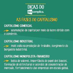 As fases do capitalismo. Clique na imagem para assistir à aula em vídeo sobre o assunto.