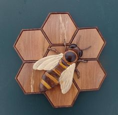 Honey Bee Wood Intarsia 80.00