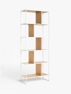 Buy Oak/Grey House by John Lewis Dice Tall Shelving Unit from our Bookcases, Shelving Units & Shelves range at John Lewis & Partners. Tall Shelves, Shelf Dividers, Open Plan Kitchen Living Room, Kitchen Units, Home Collections, Wood And Metal, Storage Solutions, John Lewis, Painted Furniture