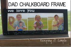 Keeping it Simple: DAD Chalkboard Frame