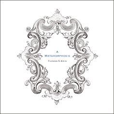 Kim Bensing Design | KimBensingDesign.com Metamorphosis Invitation Suite with Butterflies -- Beautiful! #weddings #butterflywedding #weddinginvitation #invitationbooks #specialeventinvitation #custominvitation