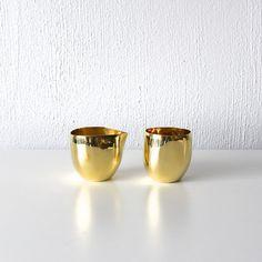 Brass Cream & Sugar Set
