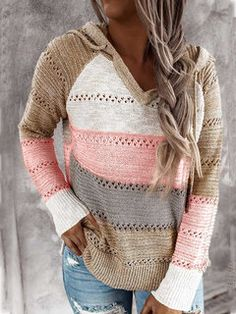Hooded Sweater, Long Sleeve Sweater, Long Sleeve Tops, Hooded Cowl, Long Sweaters, Sweaters For Women, Casual Sweaters, Pullover Sweaters, Knit Sweaters