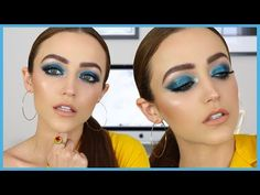 Bold Blue Makeup Tutorial + Trying Some NEW PRODUCTS | KIM K INSPIRED - YouTube