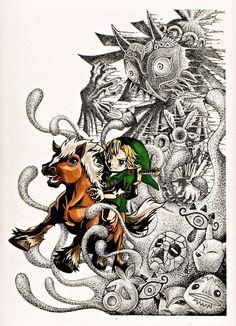The Legend of Zelda Majora's Mask - Finished drawing  by yuririn1219.deviantart.com |