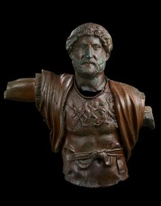 A statue of the Emperor Hadrian, Roman Period 117 CE. The Israel Museum