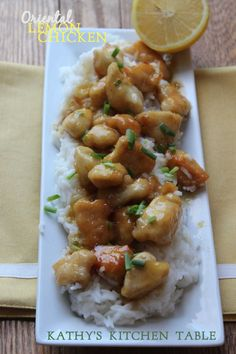 Oriental Lemon Chicken | Kathy's Kitchen Table