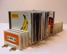 Porta CDs hechos con cassetes #reciclaje