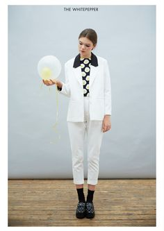 Ivory Suit Twin Set  http://www.thewhitepepper.com/collections/coats-jackets/products/ivory-suit-twin-set #TWP
