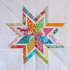 This free foundation paper-piecing template will create my favorite bordered star, the Lone Starburst, perfect for swap bees or a modern quilt.