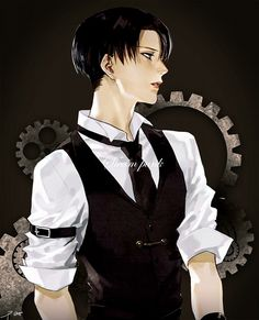 Shingeki no Kyojin - SNK - Attack on Titan - Levi -Steampunk