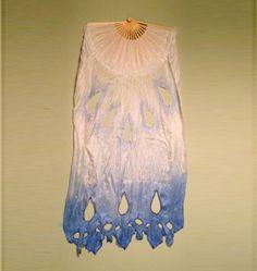 Custom Snowflake Lace Silk Fan Veils by by BelovedFreya on Etsy, $110.00