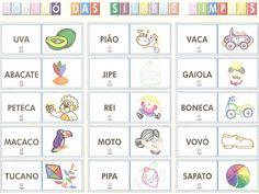 ESPAÇO EDUCAR: Jogo educativo: Dominó das sílabas simples!