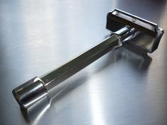Hexagonal handle rarer than the common round cylindrical handle.