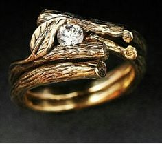 i turly think this is uquie and simbilizes foever growing love; just concerned that i could not find a wedding band to match Unusual Wedding Rings, Celtic Wedding Rings, Beautiful Wedding Rings, Beautiful Engagement Rings, Wedding Rings For Women, Vintage Engagement Rings, Celtic Engagement Rings, Branch Ring, Stud Earrings