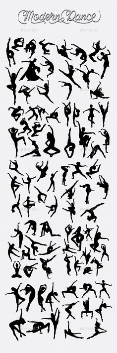 Buy Modern Dance Silhouettes by on GraphicRiver. Smooth and detail vector, male and female modern dancer action silhouette. Dance Silhouette, Silhouette Tattoos, Ballerina Silhouette, Just Dance, Dance Moms, Dance Teacher, Salsa Dancing, Dance Quotes, Dance Pictures