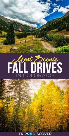 10 Most Scenic Fall Drives in Colorado Vail Colorado, Boulder Colorado, Road Trip To Colorado, Colorado Hiking, Rocky Mountains Colorado, Cool Places To Visit, Places To Travel, Travel Destinations, Fall Vacations