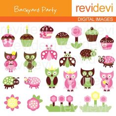 Clip art backyard party pink brown green lime (owls, cupcakes, ladybugs).Clipart set for teachers and educators. Great resource for any school and classroom projects such as for creating bulletin board, printable, worksheet, classroom decor, craft materials, activities and games, and for more educational and fun projects.You will receive:- Each clipart saved separately in PNG format, 300 dpi with transparent background.- Each clipart saved separately in JPG format, 300 dpi with white ...