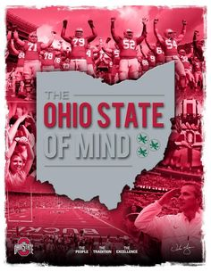 Ohio State of Mind - what a great place to be ! Buckeyes Football, Ohio State Football, Ohio State University, Ohio State Buckeyes, Buckeye Sports, College Football, Football Team, Football Season, Football Helmets