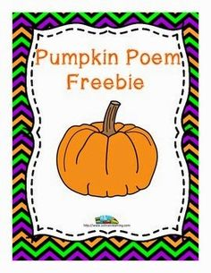 Pumpkins: This pumpkin poem by SOL Train Learning will teach your kiddos about the life cycle of a pumpkin and includes a teacher's guide and a fil. Pumpkin Poem, Pumpkin Books, Teachers Pay Teachers Freebies, Special Education Classroom, Early Education, Teaching Activities, Primary Teaching, Student Teaching, Classroom Activities