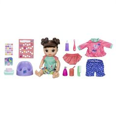 Baby Alive Potty Dance Baby Exclusive Value Pack (Brown Curly Hair) - My best baby product list Toddler Christmas Gifts, Toddler Gifts, Baby Alive, Brown Curly Hair, Baby Hands, Doll Eyes, Jojo Siwa, Doll Accessories, Educational Toys