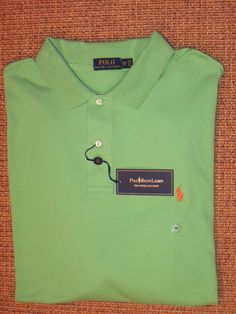 RALPH LAUREN MEN'S 2XB POLO SHIRT 2X BIG & TALL CLASSIC FIT GREEN INTERLOCK #PoloRalphLauren #PoloRugby