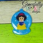 Snow Princess ornament Embroidery Design 4x4 hoop and up