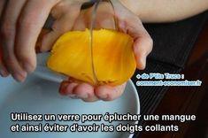 L'Astuce Pour Éplucher une Mangue SANS Avoir les Doigts Collants.