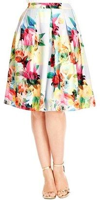 Amazing floral plus size skirt for summer!!!
