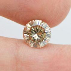 1.70 Carat Round Brilliant Loose Diamond Natural Champagne SI1- Clarity Enhanced #DiamondsCollection