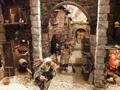 Presepe meccanizzato dell'artigiano recanatese Leandro Messi, presso la chiesa di San Vito. Recanati