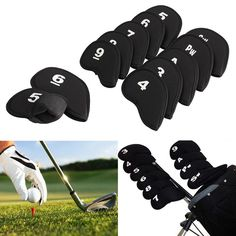 Check out this product on Alibaba.com App:11 pcs Black Cotton Golf Club Iron Putter Head Cover Golf HeadCovers with OEM logo https://m.alibaba.com/J7jIBz