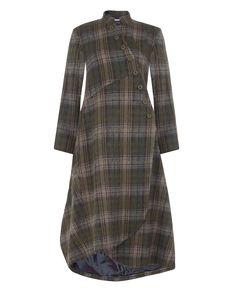 Mohair plaid coat.