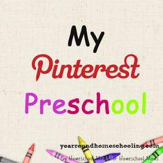 Design your own preschool using Pinterest! Follow Alecia's new Preschool series.