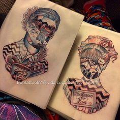 Amazing Twin Peaks tattoos by Becci Boo /Vida Loca tattoo Studio PK
