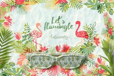 let's flamingle collection by antuanetto - Tropical surface pattern and print design. Vector illustrations and clipart #surfaceprint  #wrappingpaper #fabric #design #surfacepattern #trend #surfacepatterndesign #surfacedesigner   #illustration  #patternlove #surfacepatterncommunity #textile #seamlesspattern #fashionpattern #art #artprint #thepatterncurator #inspiration #repeatpattern #100daysofpatterns #artistsofinstagram #artlicensingshow #patternsmagazine #freelancedesign