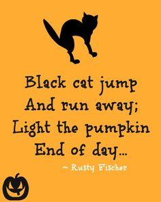 Light the pumpkin... A Halloween poem