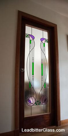 Stained Glass Mackintosh door created for clients in Perthshire Scotland