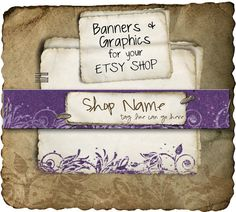 Etsy Shop Banner - Natural Purple set - banners, profile picture/avatar, reserved & special order