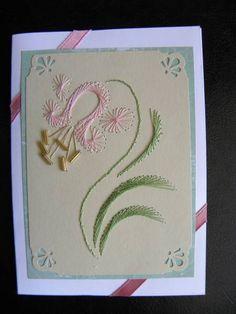 Stitching on Cards  Liliy 1