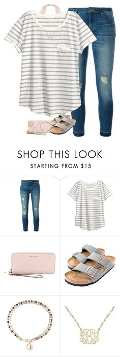 """Jonah 2:2"" by oliviajordyn ❤ liked on Polyvore featuring MICHAEL Michael Kors, H&M, Birkenstock, Astley Clarke and Kendra Scott"