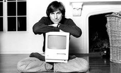 photo is of Steve Jobs. Steve Jobs was a cofounder of apple, one of the biggest technology companies in America. In the photo, he is holding one of the first macintosh computers which was very significant to the Apple Inc, We Are The World, Change The World, Tim Cook, Time Magazine, Magazine Covers, Marlon Brando, Twiggy, Famous Faces